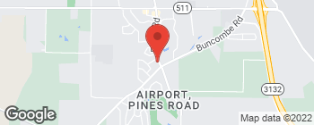 Map of 7600 Pines Rd in Shreveport