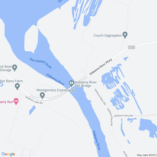 Map of Alabama River Parkway Bridge