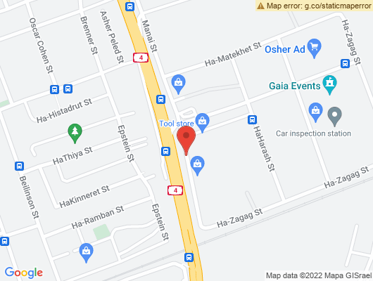 Google Map of רחוב קומבה 12 חדרה