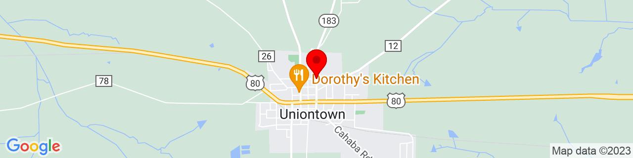 Google Map of 32.4528445, -87.51158029999999