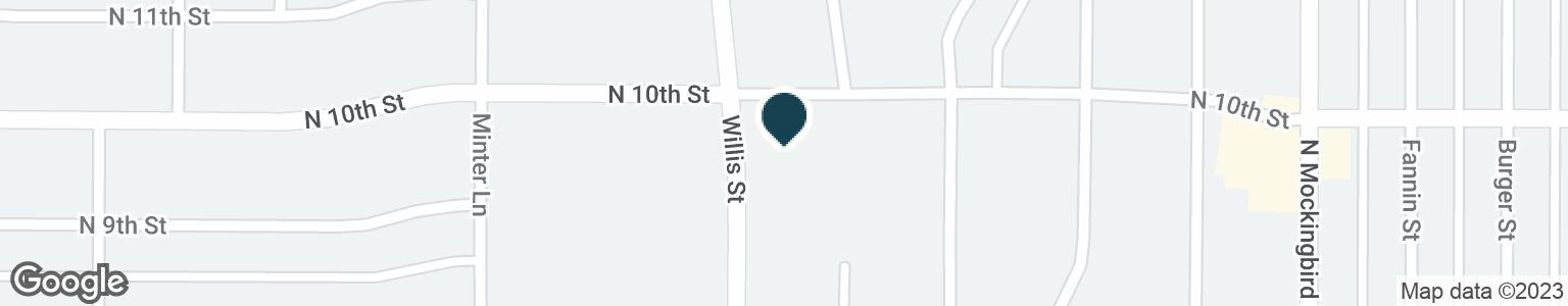 Google Map of991 N WILLIS ST