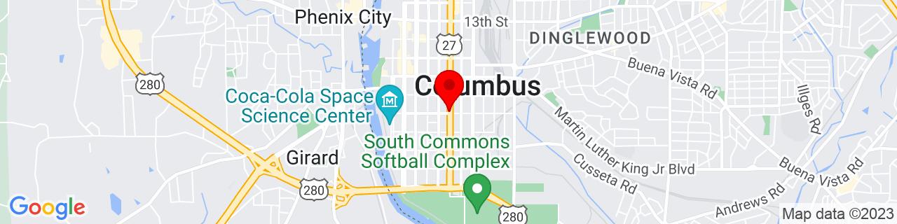 Google Map of 32.461111111111116, -84.98777777777778