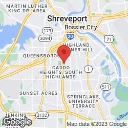 Shreveport Green on the map