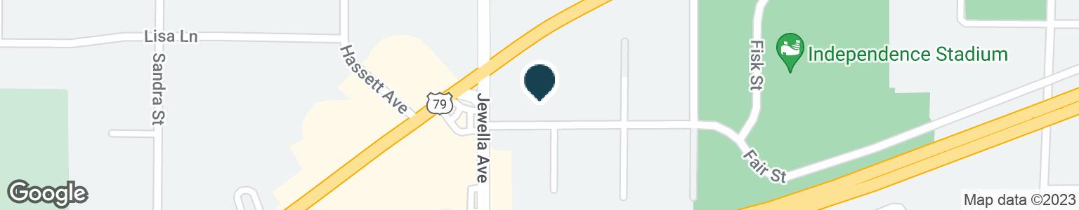 Google Map of3555 GREENWOOD RD