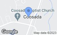 Map of Coosada, AL