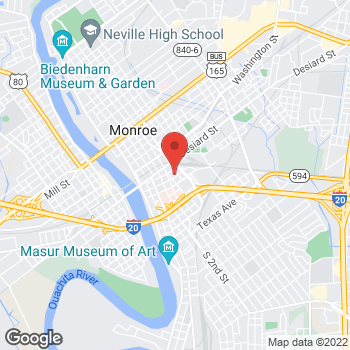 Map of Arthur Richert, MD at 611 Grammont Street, Monroe, LA 71201