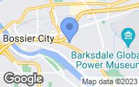 Map of Bossier City, LA