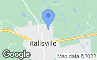 Map of Hallsville, TX