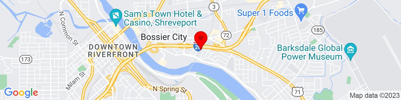 Google Map of 32.5129395, -93.7220793
