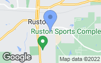 Map of Ruston, LA