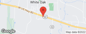 Map of 206 E US Highway 80 in White Oak