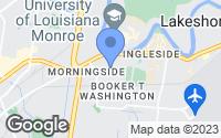 Map of Monroe, LA
