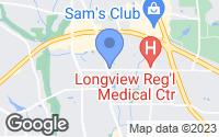 Map of Longview, TX
