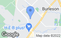 Map of Burleson, TX