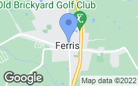 Map of Ferris, TX