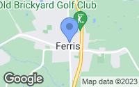 Map of Ferris, TX
