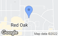 Map of Red Oak, TX