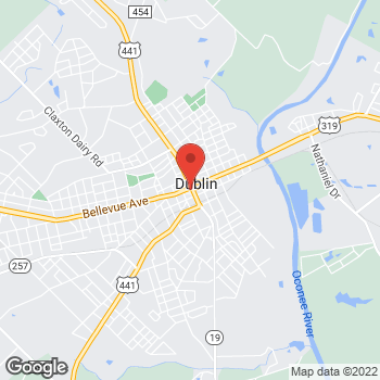 Map of Citi Trends at 100 West Jackson St., Dublin, GA 31021