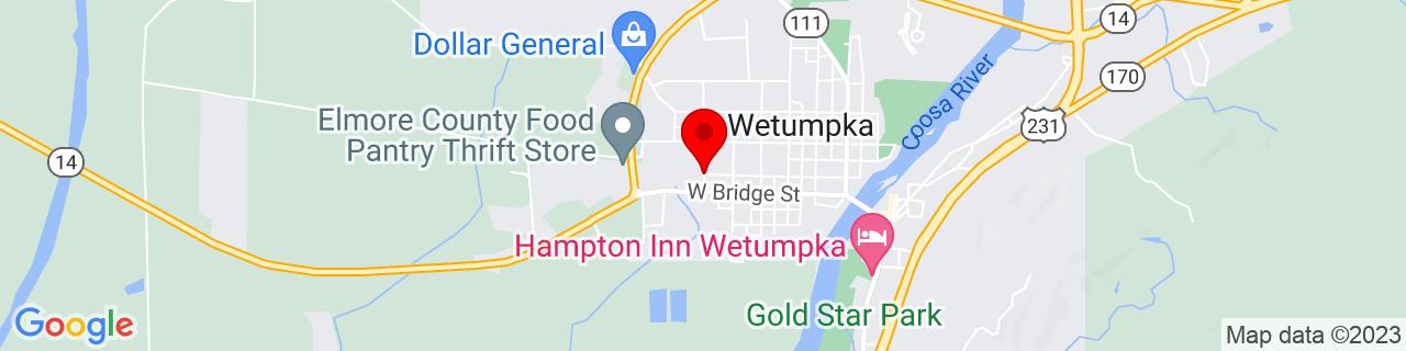 Google Map of 32.5405028, -86.2194226
