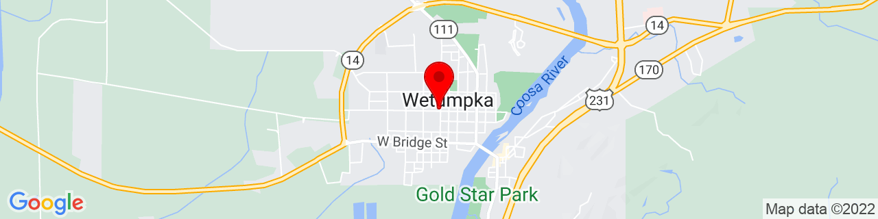Google Map of 32.5427481, -86.2129483