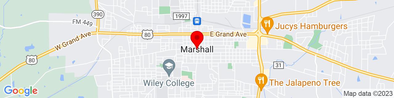 Google Map of 32.5448714, -94.36741839999999
