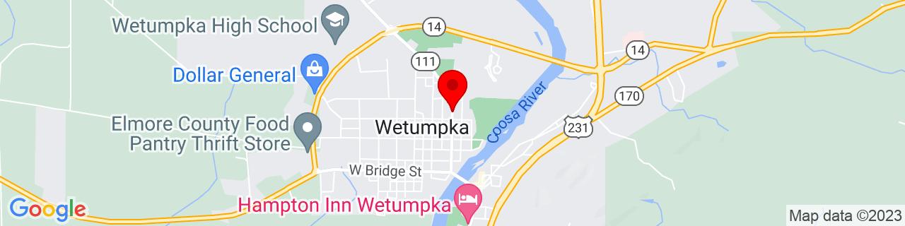 Google Map of 32.5452787, -86.20819039999999