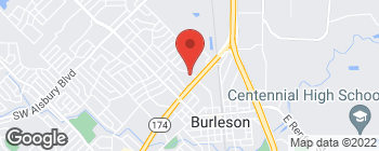 Map of 321 NW Hillery St in Burleson