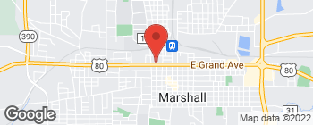 Map of 401 W Grand Ave in Marshall