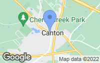 Map of Canton, TX