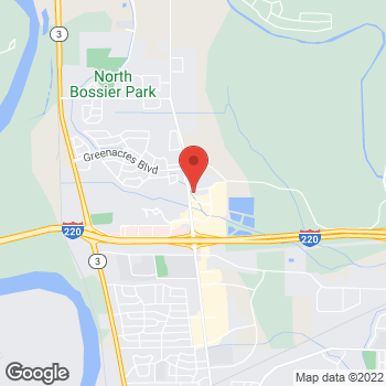 Map of Bed Bath & Beyond at 2900 Meadow Creek Drive, Bossier City, LA 71111