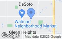 Map of DeSoto, TX