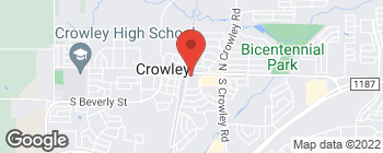 Map of 200 E Main St in Crowley
