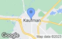 Map of Kaufman, TX