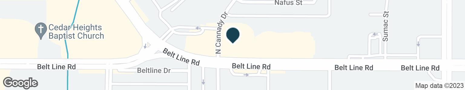 Google Map of501 E BELT LINE RD
