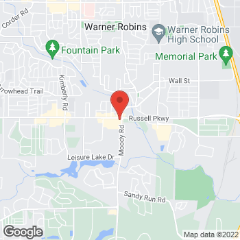 Map of Arby's at 103 Russell Pkwy, Warner Robins, GA 31088-6164