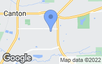 Map of Canton, MS