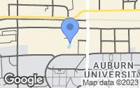 Map of Auburn, AL