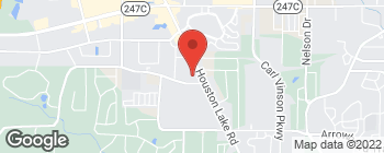 Map of 375 S Houston Lake Rd in Warner Robins