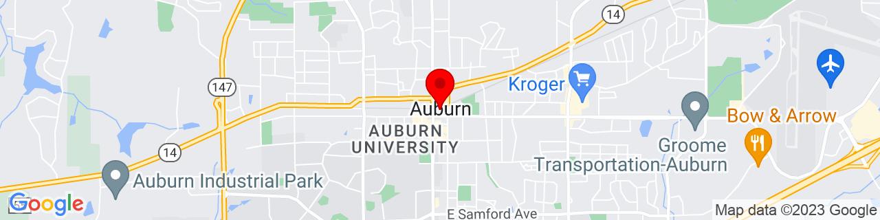 Google Map of 32.609722222222224, -85.48083333333334