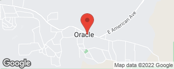 Map of 381 E American Ave in Oracle