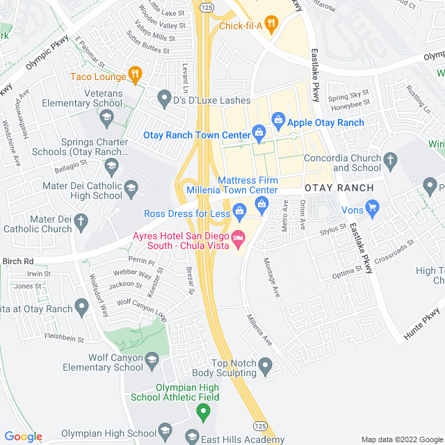 Map of Birch Rd NB On