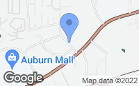 Map of Auburn, AL