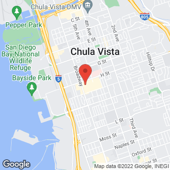 Map of Panera Bread at 555 Broadway, Chula Vista, CA 91910