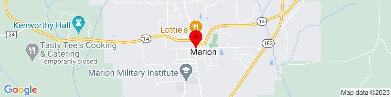 Google Map of 32.6314585, -87.3192765