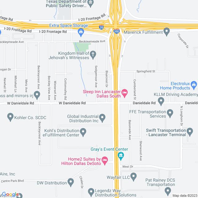 Map of I 35 E (HOT Lanes)