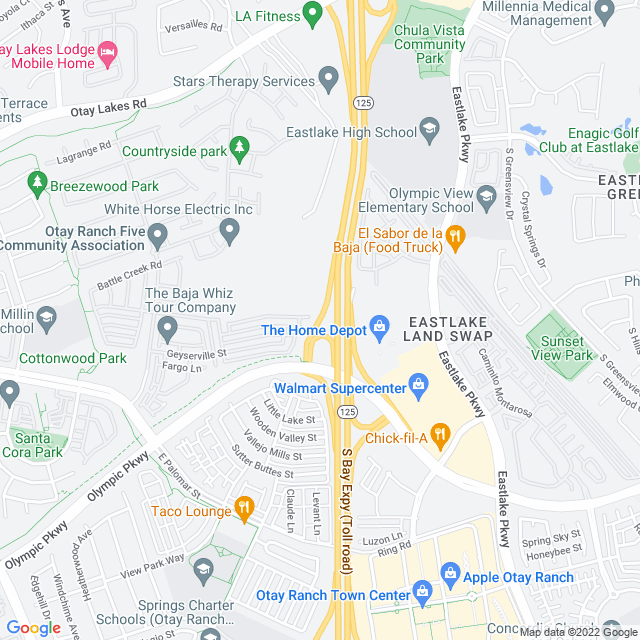 Map of Olymp Pkwy SB Off