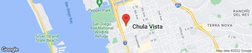 Map of 692 E St in Chula Vista