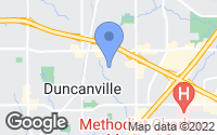 Map of Duncanville, TX