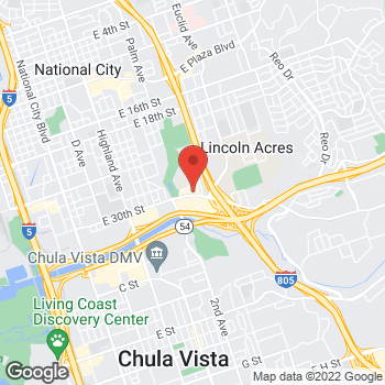 Map of Taco Bell at 1737 Sweetwater Rd, National City, CA 91950