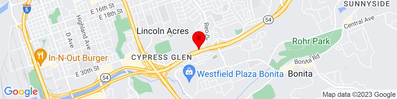 Google Map of 32.66346890000001, -117.0628606
